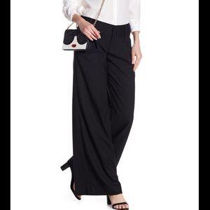 ALICE + OLIVIA eric black linen wide-leg pants XS